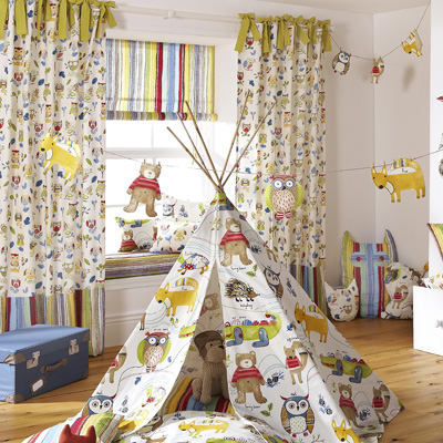 Fabric swatches and samples for kids curtains and blinds for Childrens drapery fabric
