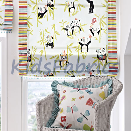Panda Design Fabrics For Kids Curtains And Blinds