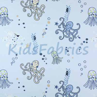 Octopus - Denim - £45.50 Per Metre