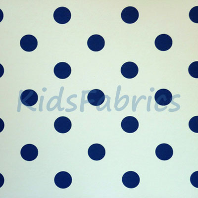 WALLPAPER: Polka dot - Denim - £23.95 per roll