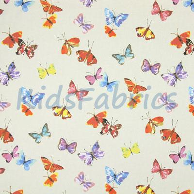Sweet Butterfly - Linen - £11.95 per metre
