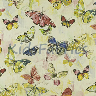 Butterfly Cloud - Hibiscus - £23.95 per metre