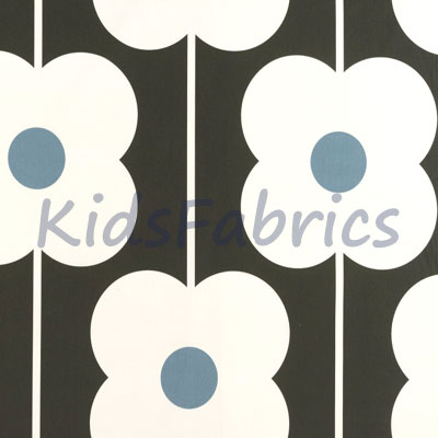 Abacus Flower - Powder blue - £18.00 Per Metre