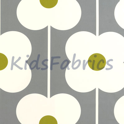 Abacus Flower - Olive - £18.00 per metre
