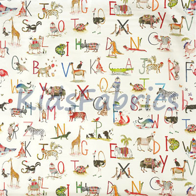 Animal Alphabet - Fudge - £14.50 per metre