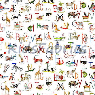 Animal Alphabet - Paintbox - £14.75 per metre