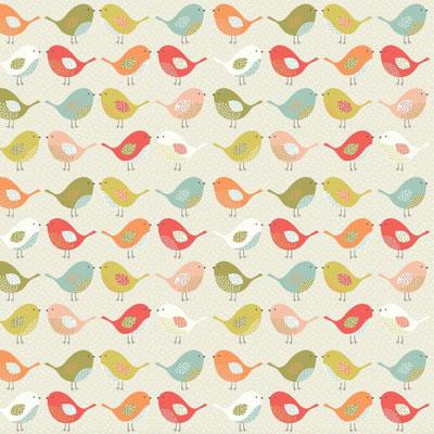 Birds - Multi - £12.50 per metre