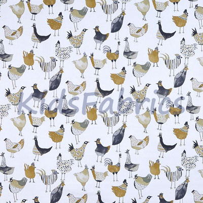 Harriet Hen - Graphite - £12.50 per metre