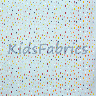 Lots of Dots - Sky - £32.00 per metre