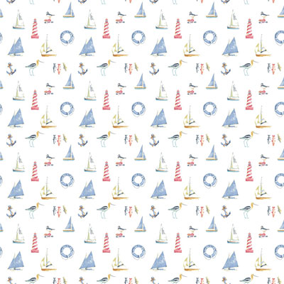 Nautical - Blue - £12.50 per metre
