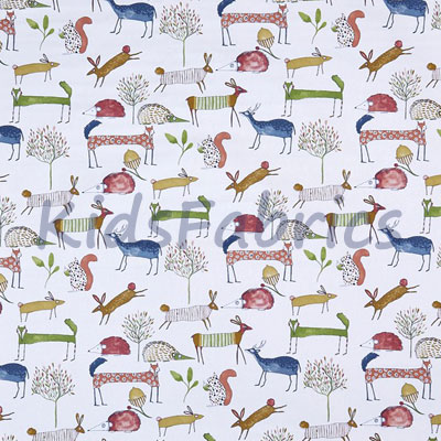 Oh My Deer - Berry - £12.50 per metre