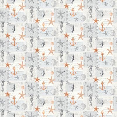 Ocean - Orange - £12.50 per metre