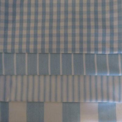 Pale Blue Stripes & Gingham - £15.00 ITEM PRICE