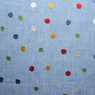Remnant 1671: Splodge - Blue [0.75 metre] - £8.50 ITEM PRICE