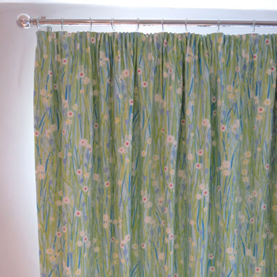 CURTAINS:  DAISY - SKY - £139.00 ITEM PRICE