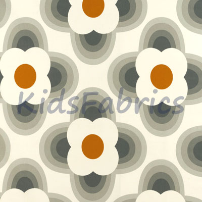 Striped Petal - Orange - £18.00 Per Metre