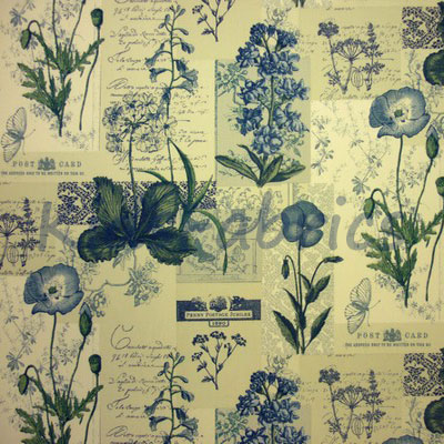 Remnant 1275: Wildflower - Denim [1.20 metre] - £10.50 ITEM PRICE