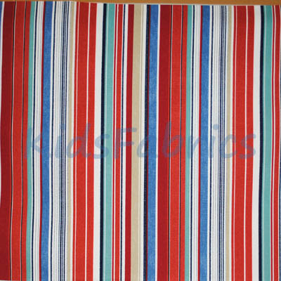 Remnant 1626: Allegra - Ruby Stripe [1.4 metre] - £9.50 ITEM PRICE