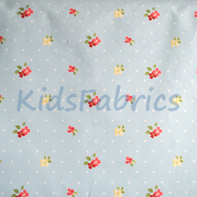 Floral pattern fabrics flowers in pinks blues yellow and for Childrens fabric