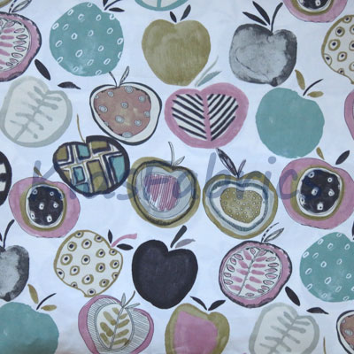 Apples - Marshmallow - £11.95 per metre