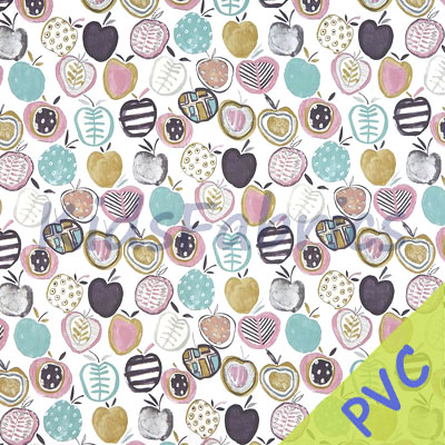 Apples - Marshmallow [PVC] - £14.95 per metre