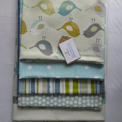 Aqua & Ochre Fabric Bundle - £12.00 ITEM PRICE