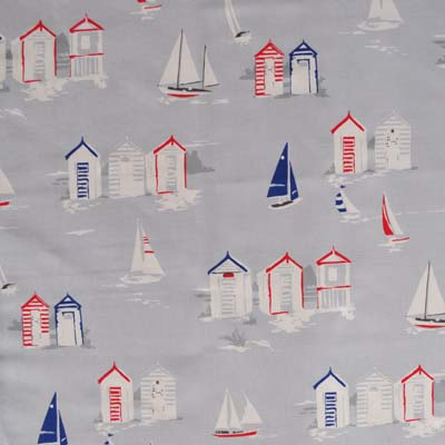 Beach Huts - Grey - £11.50 per metre