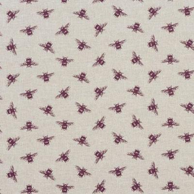Bees - Purple - £12.50 per metre