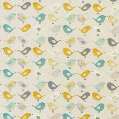 Birds - Ochre - £12.50 per metre