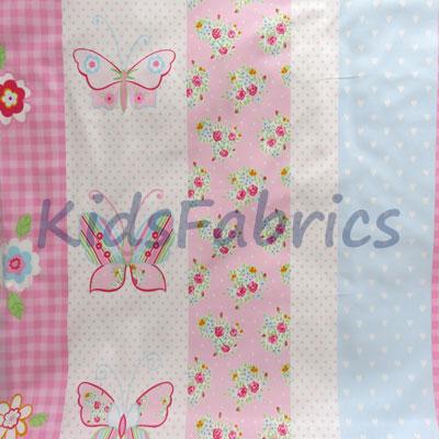 Butterfly Stripe - Pink - £11.95 per metre