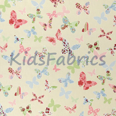 Remnant 1242: Butterfly - Vintage [0.40 metre] - £3.75 Item price