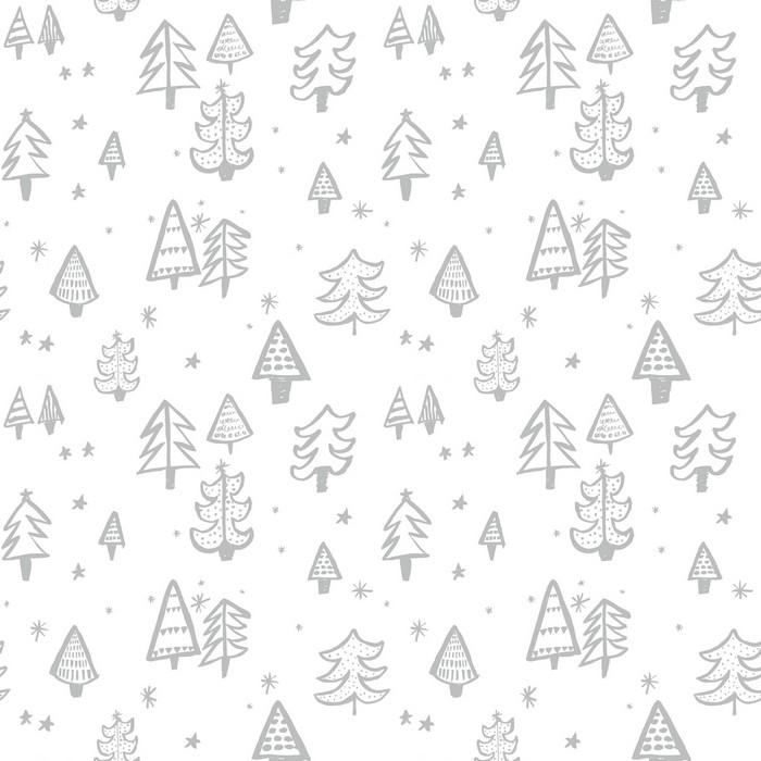 Christmas Tree - Silver - £12.95 per metre