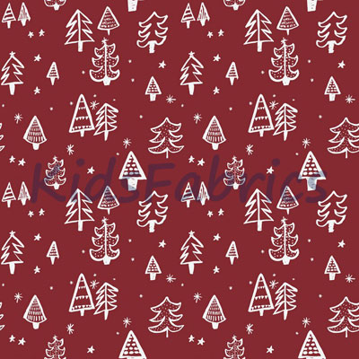 Christmas Tree - Red - £12.95 per metre