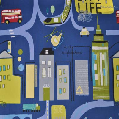 Remnant 1577: City Life - Denim [0.5 metre] - £3.50 ITEM PRICE