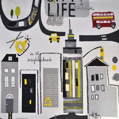 City Life - Graphite - £11.50 per metre