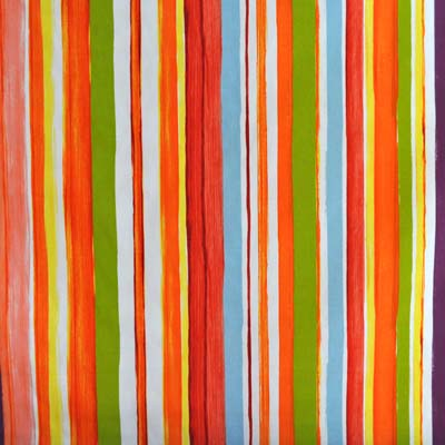 Colourwash Orange Bright Colourwash Stripe Design In Orange Kids Curtain Fabric For Curtains