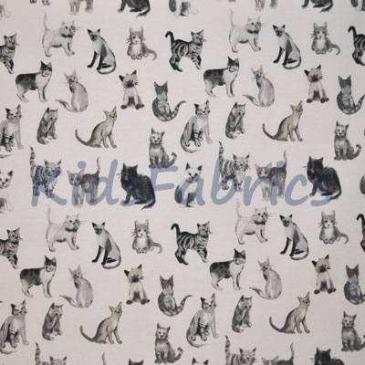 Remnant 1266: Cool Cats - Charcoal [1.10 metre] - £9.90 Item price
