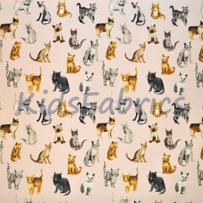 Remnant 1267: Cool Cats - Rose [1.20 metre] - £10.50 Item price