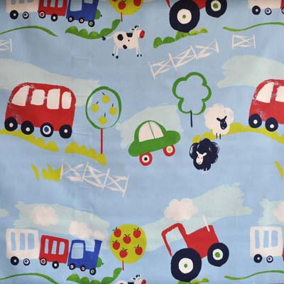 Transport and travel cars and vehicles for boys room kids for Boys curtain material