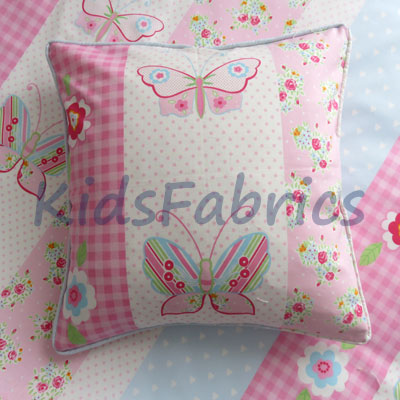 Cushion - Butterfly Stripe Pink - £13.50 ITEM PRICE