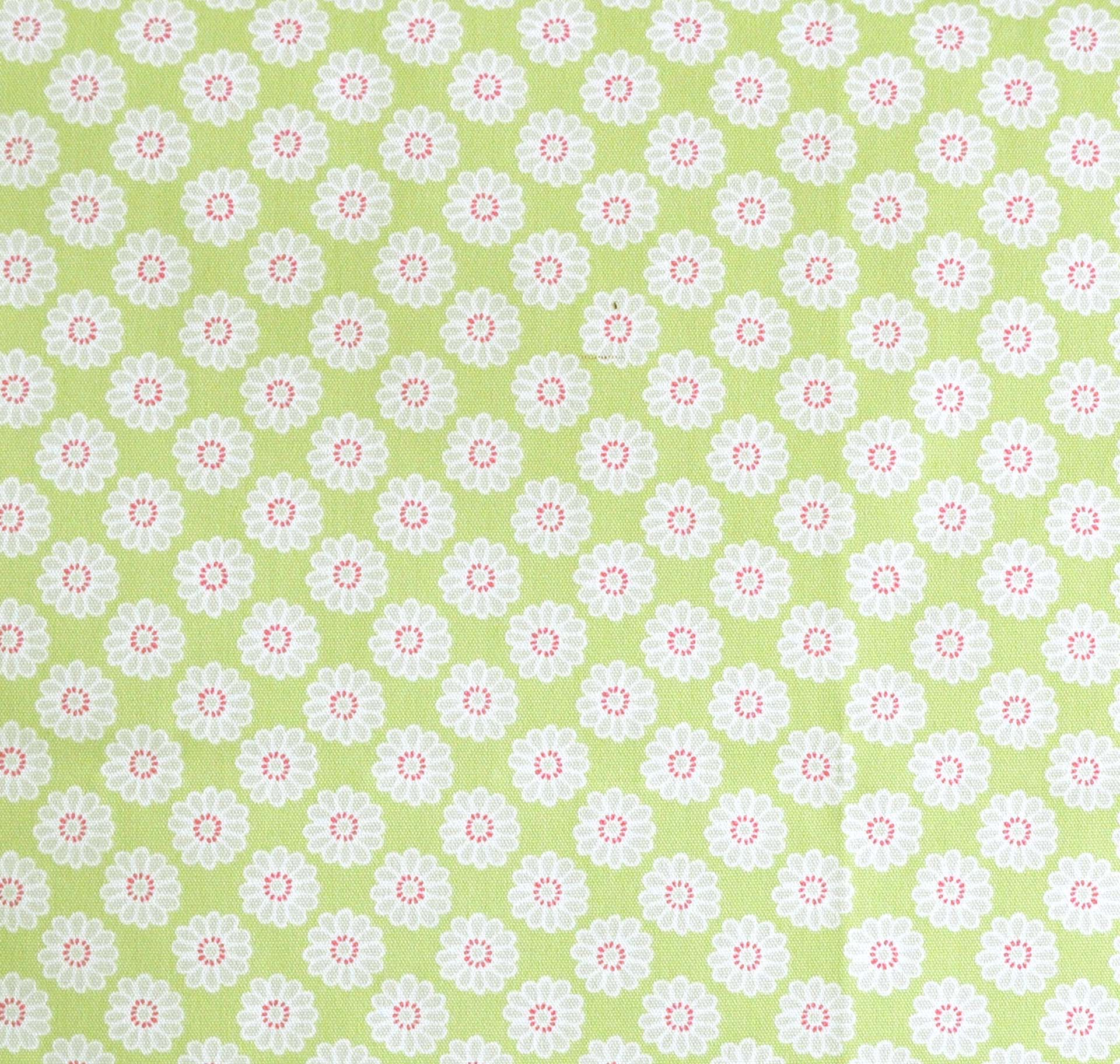 Remnant 1635: Daisy - Lime [0.60 metre] - £6.00 ITEM PRICE
