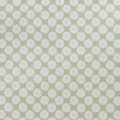 Remnant 1410: Daisy - Sage [1.00 metre] - £7.50 ITEM PRICE