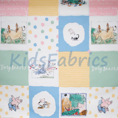 Dirty Beasts Patchwork - £9.50 per metre