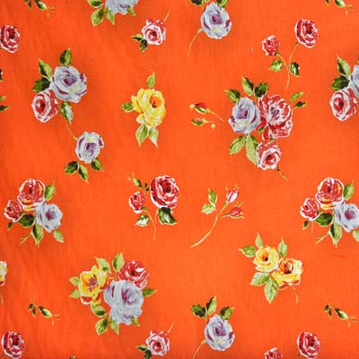 Remnant 1033: Ella - Orange [1.00 metre] - £7.00 ITEM PRICE