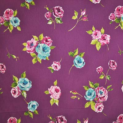 Remnant 1034: Ella - Mulberry [0.40 metre] - £3.50 ITEM PRICE