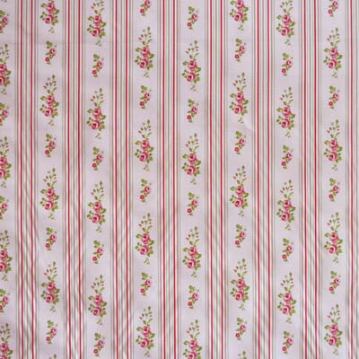 Remnant 1285: Floral Stripe - Rose [1.80 metre] - £13.95 ITEM PRICE