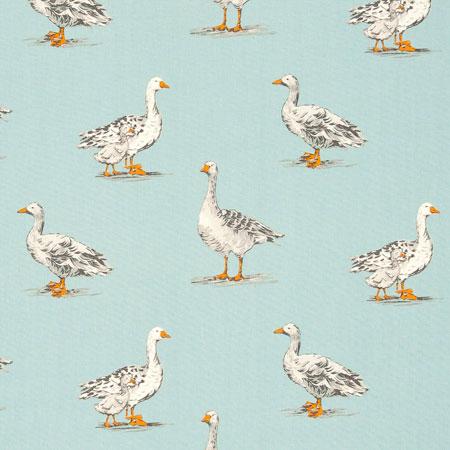 Geese - Duck Egg - £13.50 per metre