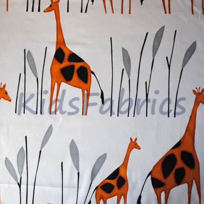 Geoffrey - Giraffe Orange - £12.50 Per Metre