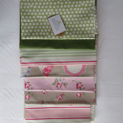 Green and Taupe Fabric Bundle - £16.00 ITEM PRICE
