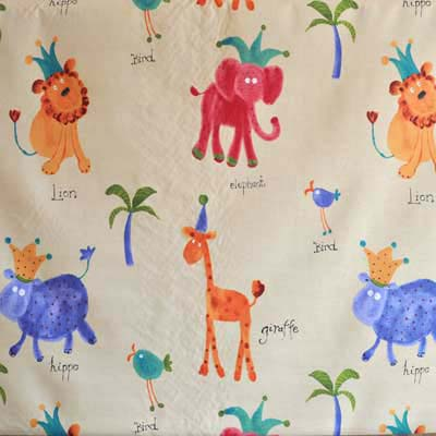Animal fabrics kids curtain fabric for curtains blinds and for Kids drapery fabric
